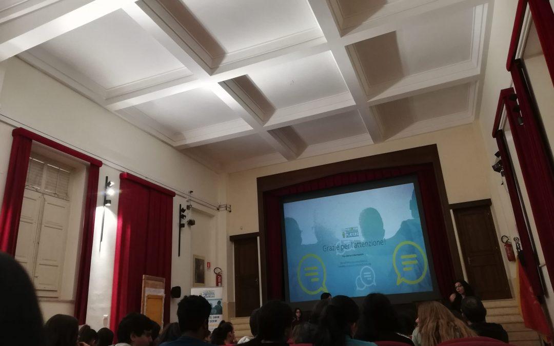Peer to peer players: sessioni informative sull'uso responsabile del web presso le scuole di Palermo