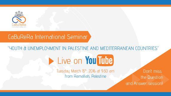CaBuReRa: Seminario Internazionale, in diretta su Youtube dalla Palestina