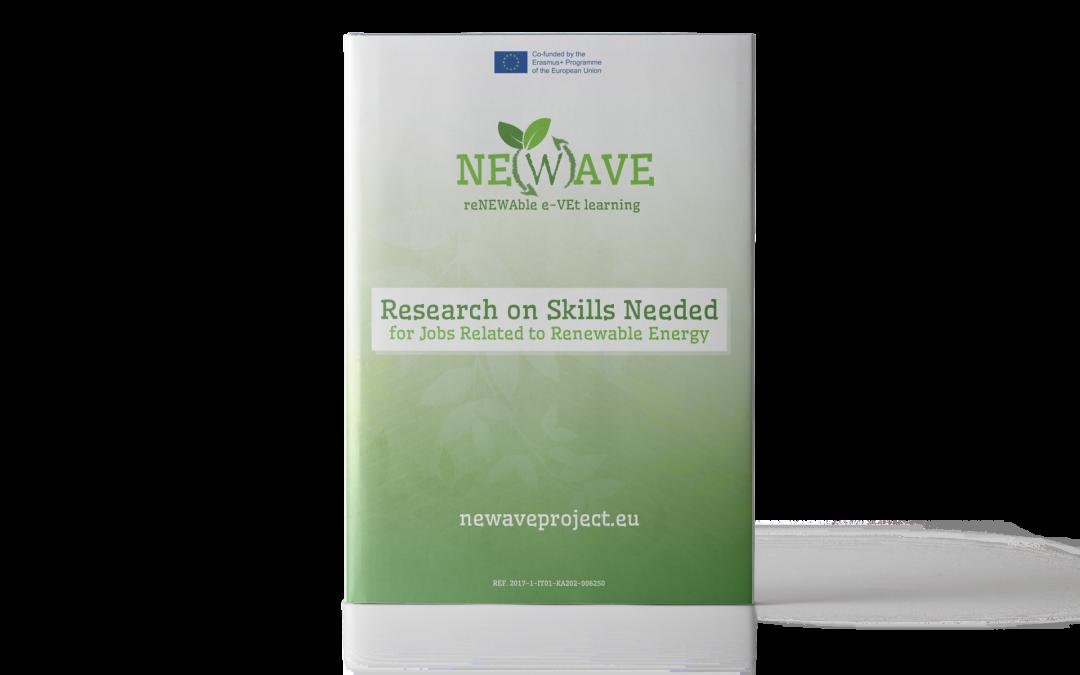NE(W)AVE: Ricerca sulle competenze necessarie per lavorare nel settore delle energie rinnovabili