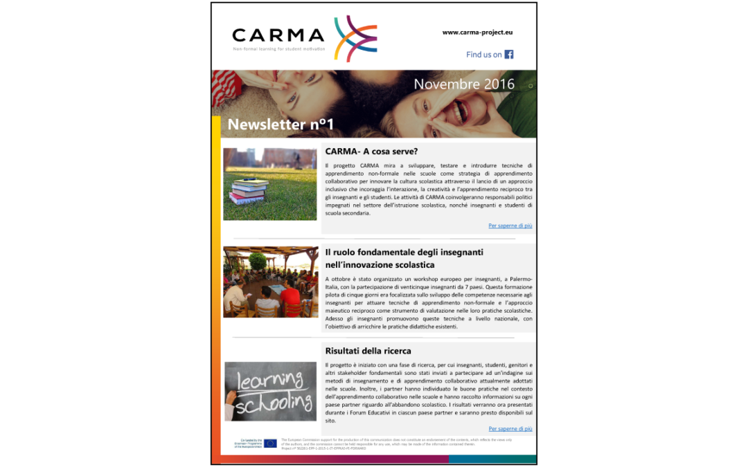 CARMA – First Newsletter