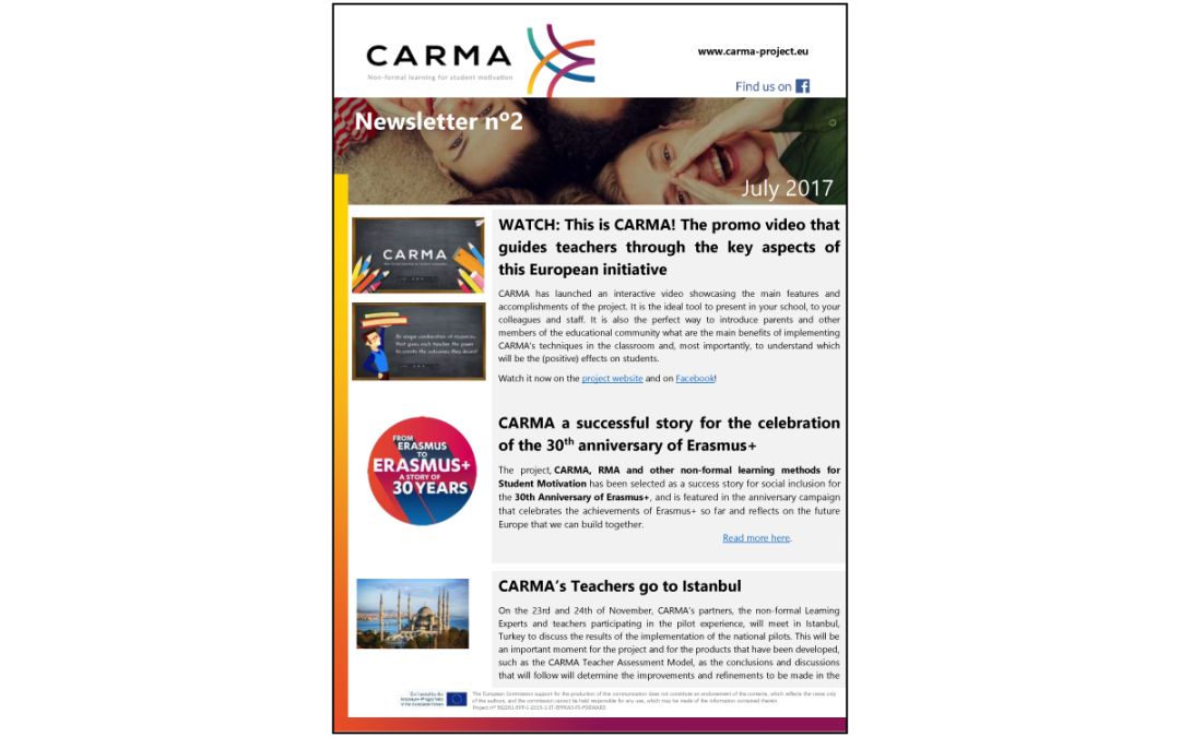 CARMA – Second Newsletter