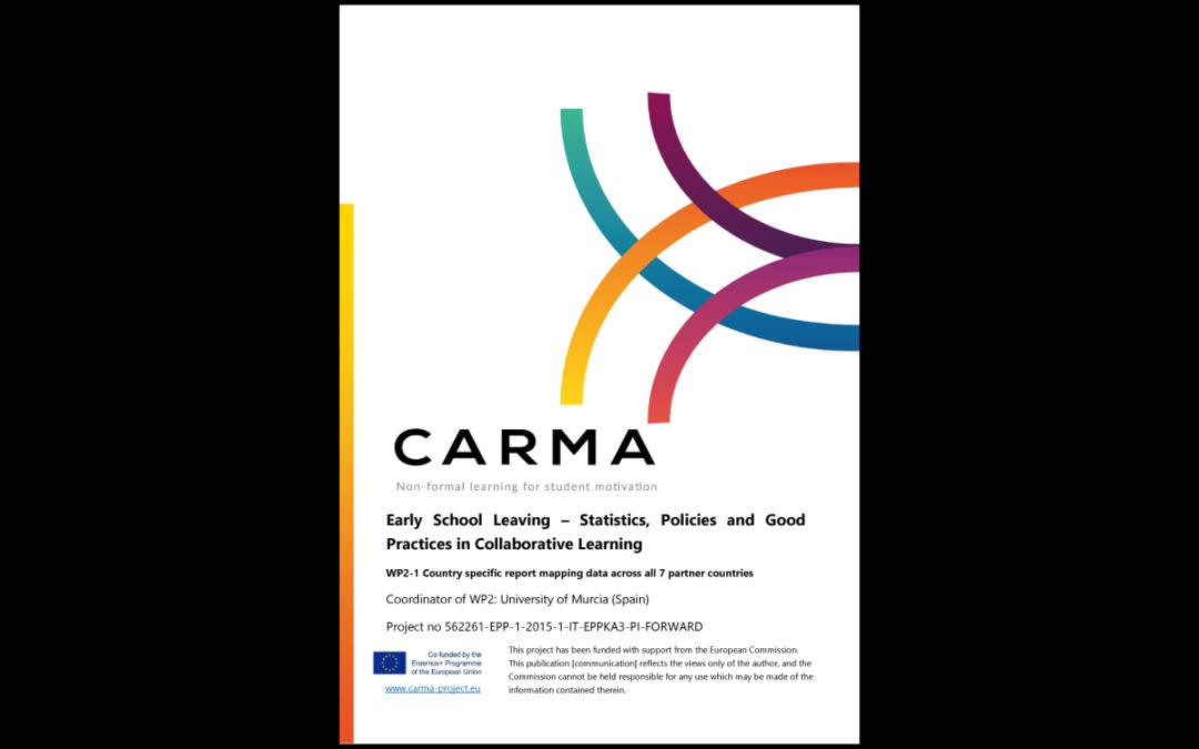 CARMA – Abbandono scolastico precoce – Statistiche, Politiche e Buone pratiche all'interno del Report per l'apprendimento collaborativo