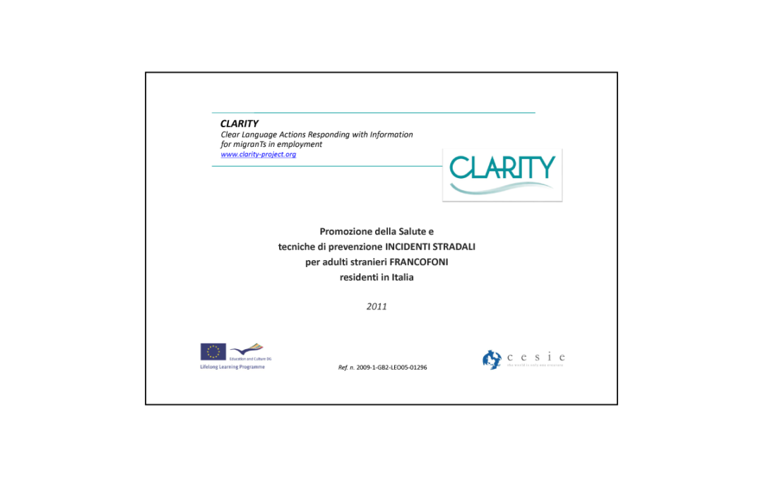 CLARITY – Materiale formativo francese in Italia