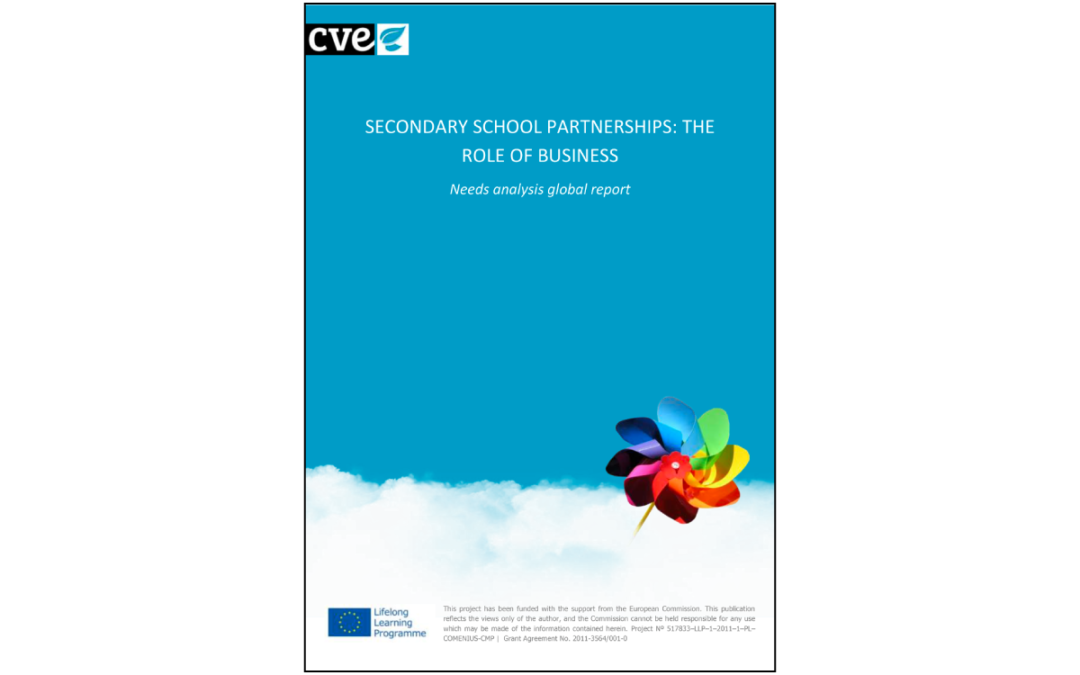 CVE – SECONDARY SCHOOL PARTNERSHIPS: THE ROLE OF BUSINESS Needs analysis national report