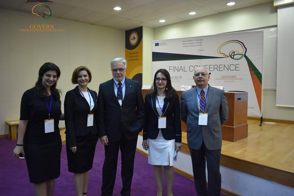 Conferenza finale di GOVERN: valutazione dell'impatto del progetto nel sistema d'istruzione superiore armeno