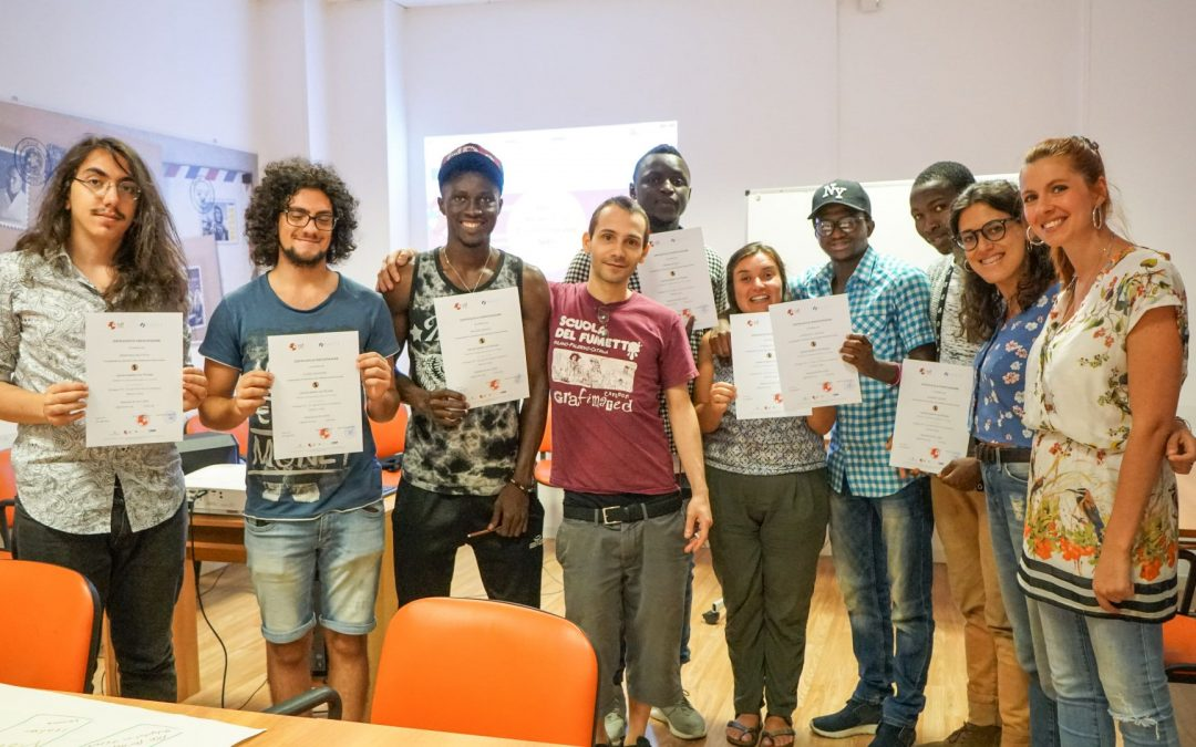 Creativity and active citizenship: new I Giovani Parlano con l'Europa comic workshops