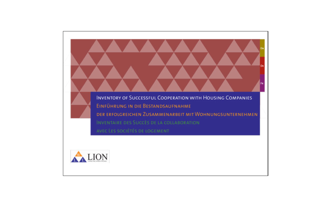 LION – Inventory of Successful Cooperation with Housing Companies