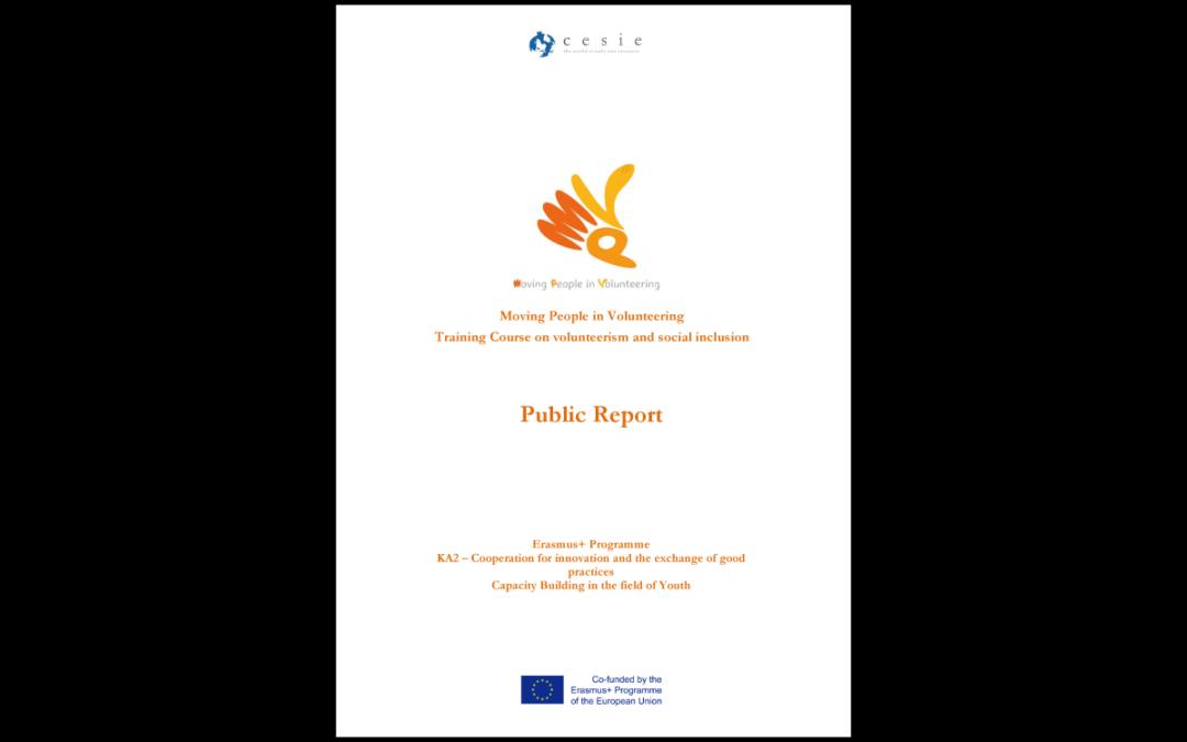 MPV project – Public report training course