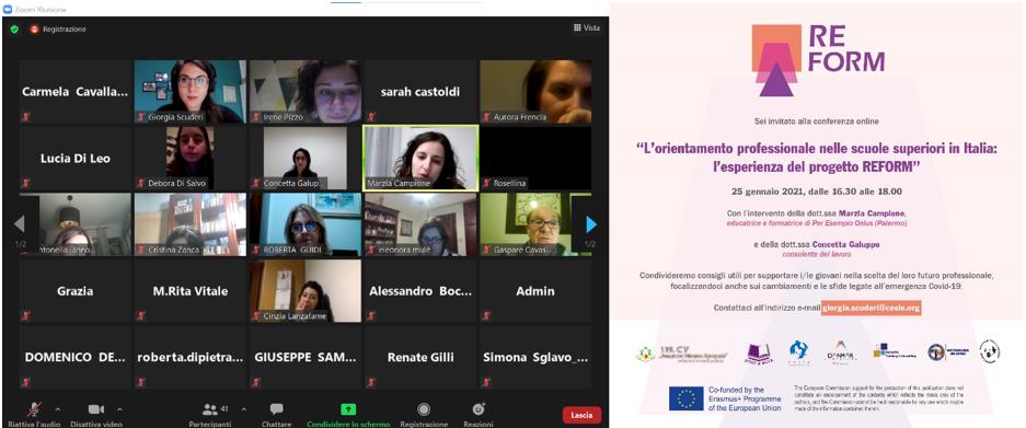 L'orientamento professionale nelle scuole in Italia: l'esperienza del progetto REFORM